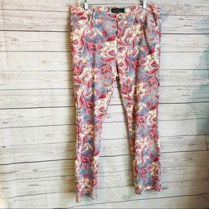 Lauren Ralph Lauren Paisley Jeans Pants Size 14